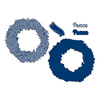 Tattered Lace Peace Wreath Die Set