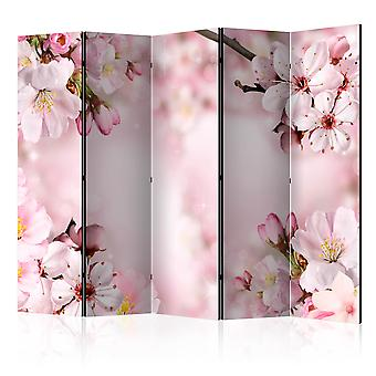 5-teiliges Paravent - Spring Cherry Blossom II [Room Dividers]