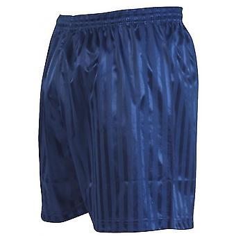Tarkkuus raidallinen mannermainen jalkapallo shortsit 30-32 tuumaa Navy Blue