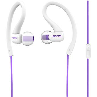 """Koss Stereo InEar Headset """"FitClips KSC32iV"""" with Microphone, violet"""