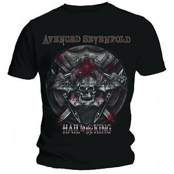 Avenged Sevenfold Battle Armour Black T Shirt: Large