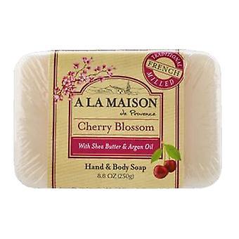 A La Maison Cherry Blossom Hand & Body Bar Soap, 8.8 Oz