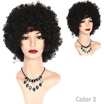 Kinky curly short afro wigs black natural synthetic wig for women heat resistant fiber african american wig