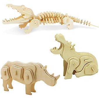 Hölzerne 3D Puzzle Sammlung Puzzle Modell Kit Baukasten Holzhandwerk Kinder Puzzle Spielzeug Alter