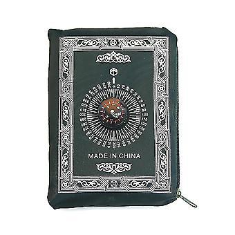 Молитвенный коврик с компасным мешочком Портативные плетеные коврики Путешествие домой Мат Одеяло (армейский зеленый)