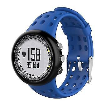 Reemplazo de silicona Hombres's correa de reloj para SUUNTO M1 / M2 / M4 / M5 azul