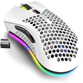 Rgb Podsvietenie Honeycomb Design Nabíjateľná bezdrôtová herná myš