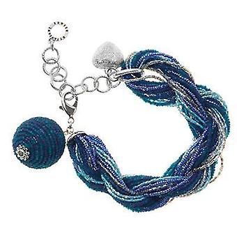Ottaviani jewels bracelet with beads & crystals blue 470085