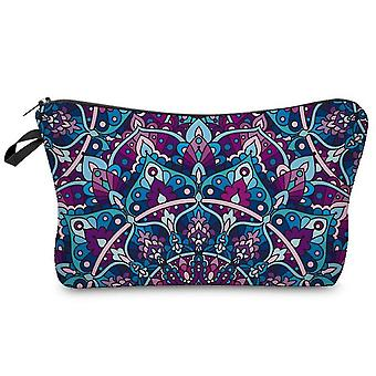 Cosmetic Bags For Women, Travel Toiletry Organizer With Zipper (mandala Flower Design)(Color2)