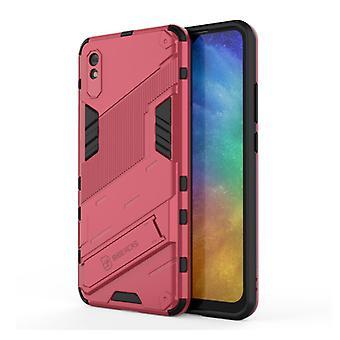 BIBERCAS Xiaomi Mi 10T Case with Kickstand - Shockproof Armor Case Cover TPU Pink