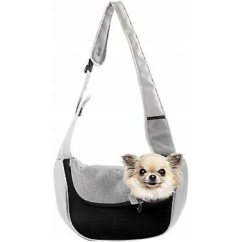 Dog Harness, Front Hanging Bag, Handbag For Cat And Puppy, Breathable Filet Travel, Suitable For Small And Medium Size Dog Shoulder Bags (orange Gray