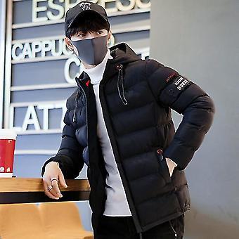 Men Winter Coat Hooded Warm Windproof Jacket