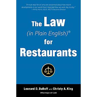 The Law in Plain English for Restaurants by Leonard D Duboff & Christy King