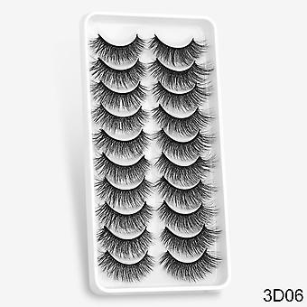5/8/10 Pairs 3d mink natural false eyelashes with dramatic volume