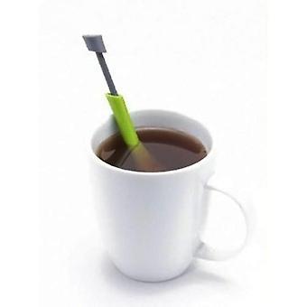 Total Tea Infuser Gadget Measure - Swirl Steep Stir And Press Plastic Tea &