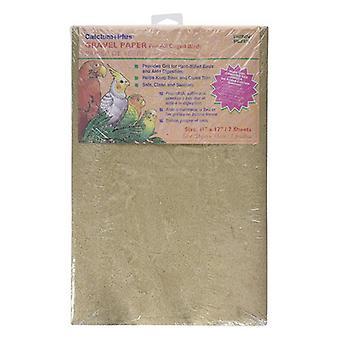 "Penn Plax Calcium Plus Gravel Paper for Caged Birds - 11"" x 17"" - 7 Pack"