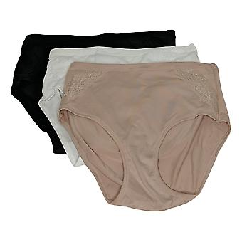 Aria Panties Heavenly Touch 3 Pack Modern Brief Lace Beige 640962