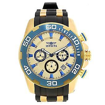Invicta Pro Diver 22343 Silicone, montre chronographe en acier inoxydable