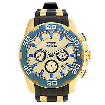 Invicta Pro Diver 22343 Silicone, roestvrij stalen chronograaf horloge