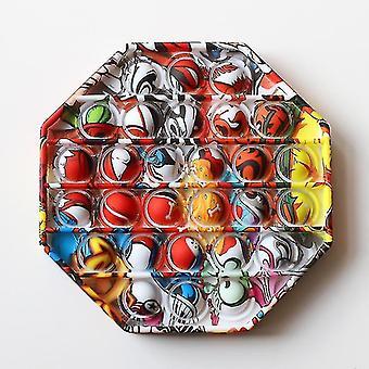Zeitgenössisch inspirierter Push Pop Siliziumblase Autismus Anti Stress sensorisches Zappel spielzeug (I)