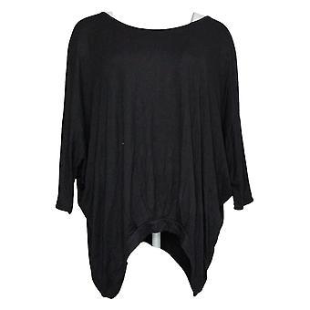 DG2 by Diane Gilman Women's Top Pleated Front Dolman Sleeve Black 654861