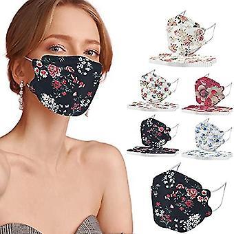 4-ply زهرة المتاح Face_masks مع تصاميم لفصل الصيف الربيع، 50pc الأزهار 3d Facemasks مع سلك الأنف للرجال النساء (kf_94_d)