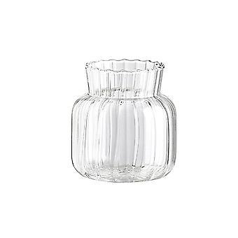 Enkel transparent glasvas, hydroponisk vas -a