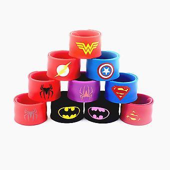 Superhero Clap Bracelet, Children's Toy, Unisex, 10 Pieces