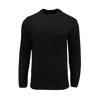 Soul Star Men's Tugger Turtle Neck Cable Knit Knitted Jumper