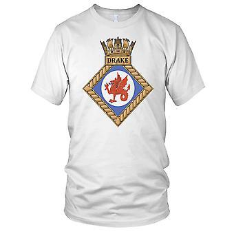 Royal Navy HMS Drake Kids T Shirt