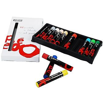 Pebeo Ara Oil Pastels Set Of 12 Assorted Colours**^
