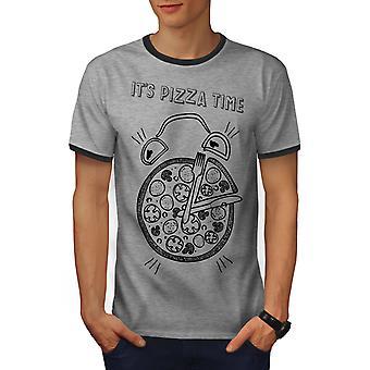 البيتزا الوقت غير المرغوب فيه مزحة الرجال هيذر غراي/هيذر الظلام GreyRinger تي شيرت   ويلكودا