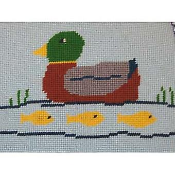 Ducks and Fishes Needlepoint Kit