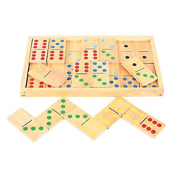Bigjigs Toys Jumbo Wooden Dominoes Traditional Educational Game Playset Indoor
