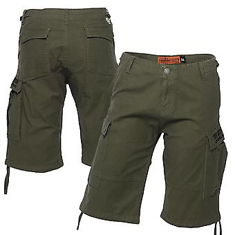 West Coast choppers mens Cargoshorts lading korte olijf groen