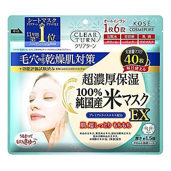 Kose CLEAR TURN Ultra-rich Rice Mask Ex 40pcs