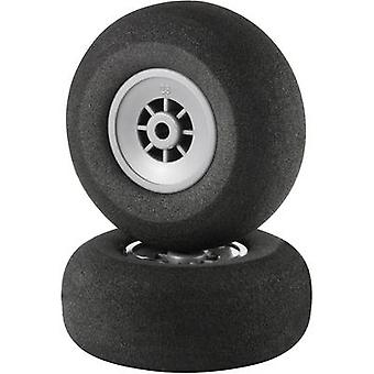 Model airplane foam rubber wheels Lightweight Reely 45 mm 1 pair