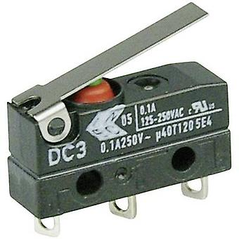 ZF Microswitch DC3C-A1LB 250 V AC 0.1 A 1 x On/(On) IP67 momentary 1 pc(s)