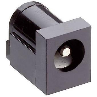 Lumberg 161321 lage voedingsconnector Socket, horizontale mount 6 mm 2,35 mm 1 PC('s)
