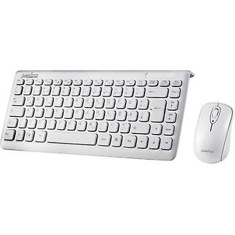 Perixx Periduo-707 plus W draadloos toetsenbord/muis combo Duits, QWERTZ, Windows® wit