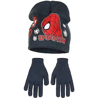 Marvel Ultimate Spider-Man Childrens Boys Profile Hat And Gloves Set