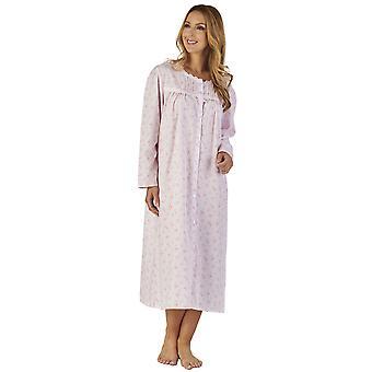 Slenderella ND2202 femei ' s Sprig polycotton floral noapte rochie loungewear nightdress