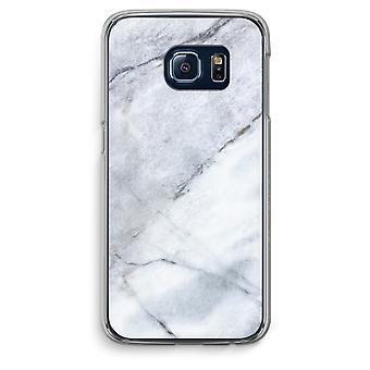 Samsung Galaxy S6 bordo trasparente custodia (Soft) - marmo bianco