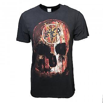 Amplified Amplified Unisex Slayer World Sacrifice T Shirt Charcoal