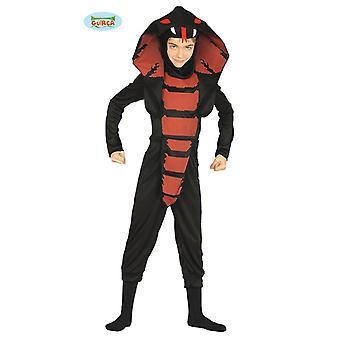 Çocuk Yılan Çocuk Kostüm için Cobra Ninja Kostüm