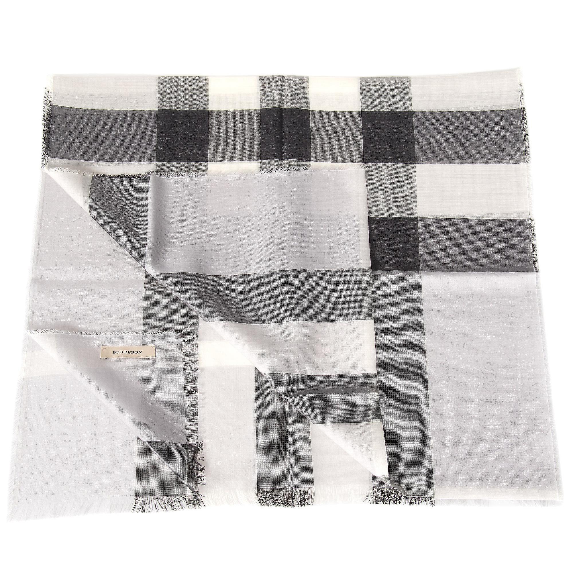 Burberry lett av ull og silkeskjerf | Blek grå