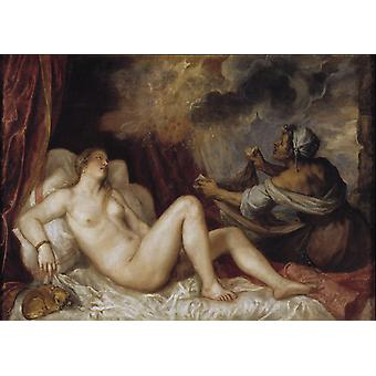 Danae,Titian,60x40cm