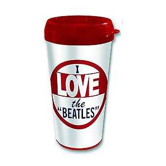 The Beatles Travel Mug I Love the Beatles new official plastic boxed