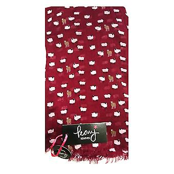 Sheep Print - Pomegranate by Peony