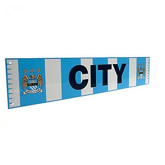 Manchester City FC Official Bar Scarf Sign